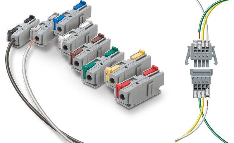 スクリューレスで簡単接続。作業時間が約半分に!  中継スクリューレス端子台